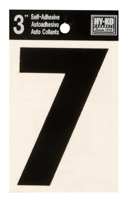 Hy-Ko  3 in. Vinyl  Black  7  Number  Self-Adhesive