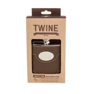 Twine  6 oz. Multicolored  Flask  Stainless Steel