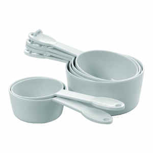 Progressive  Prepworks  1/4, 1/3, 1/2, 2/3, 3/4, 1 cups Plastic  White  Measuring Set