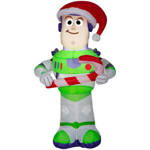 Disney  Airblown  Toy Story Buzz Lightyear  Christmas Inflatable  Multicolored  Polyester  1 pk