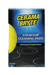 Cerama Bryte  Delicate, Light Duty  Cleaning Pad  For Cooktop 4 in. L 5 pk
