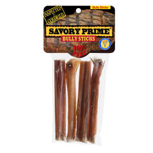 Savory Prime  Bully Sticks  Beef  Dog  Grain Free Treats  4 pk