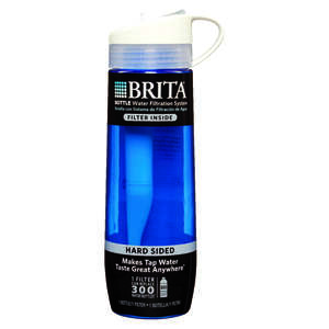 Brita  Hard Sided Bottle Sided Bottle 24 oz. Blue   Bottle