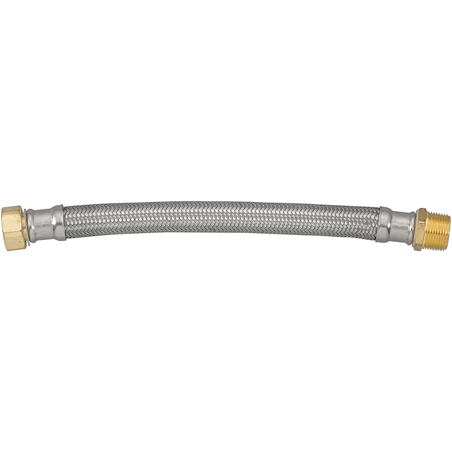 Ace  3/4 in. FIP   x 3/4 in. Dia. MIP  Stainless Steel  12 in. Supply Line