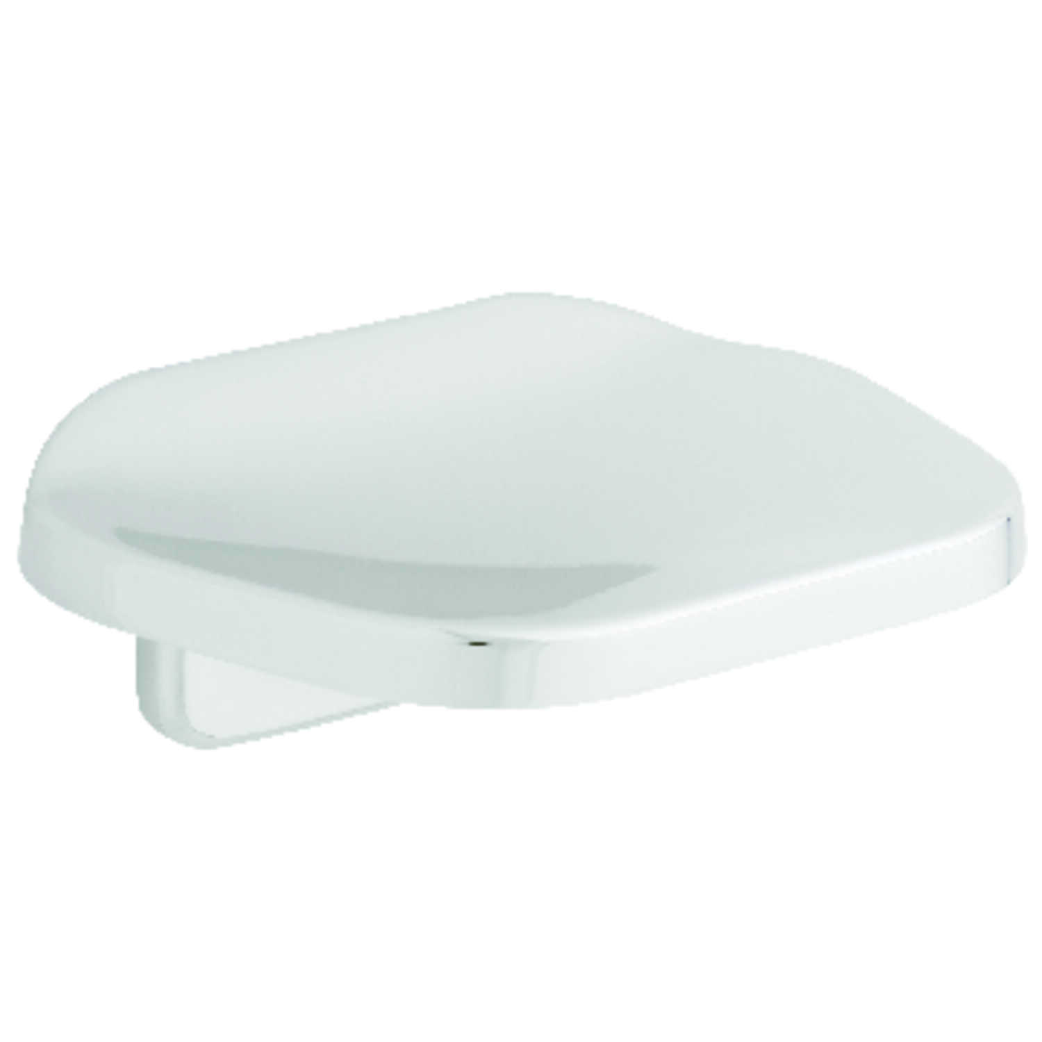 Franklin Brass  Futura  Soap Dish  1.7 in. H x 3.4 in. W x 4.5 in. L Chrome  Die Cast Zinc