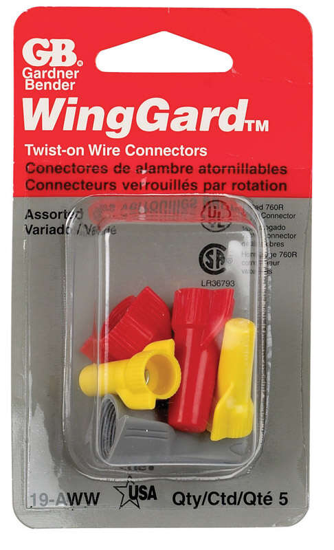 Gardner Bender  WingGard  Copper Wire  Wire Connector  Assorted  5 pk