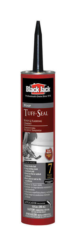Black Jack  Tuff-Seal  Gloss  Black  Asphalt  Roof & Flashing Cement  10 oz.