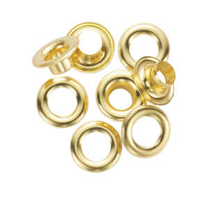General Tools  3/8 in. Dia. x 0.375 in. Dia. Brass  Grommet  24 count