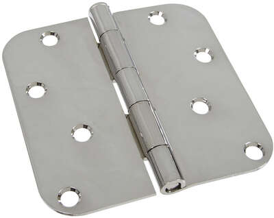 National Hardware  4 in. L Polished Brass  Door Hinge  1 pk