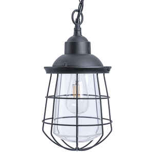 Paradise Lighting  LED  Glass/Metal  Hanging Garden Light  Black