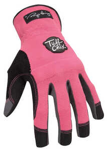 Ironclad  Women's  Synthetic Leather  Work  Gloves  Pink  Small