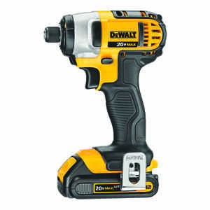 DeWalt  20 volts 1/4 in. Hex  Cordless  Impact Driver  Kit 2800 rpm 3200 ipm 1400 ft./lbs.