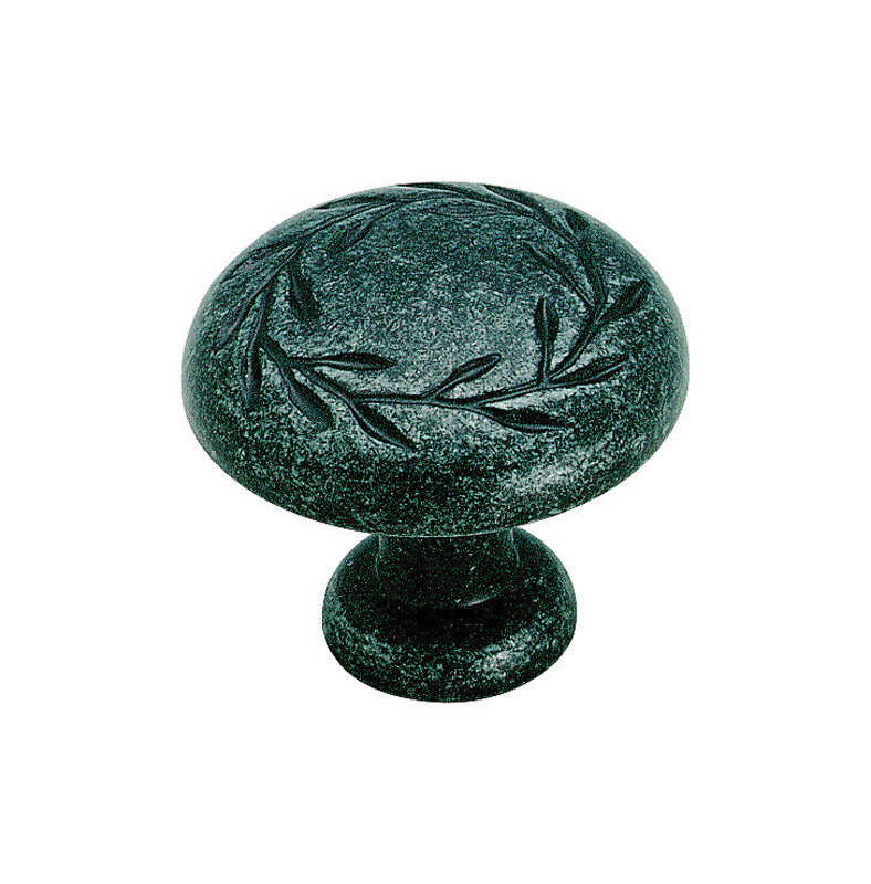Amerock  Natures Splendor  Round  Cabinet Knob  1-5/16 in. Dia. 1-1/16 in. Wrought Iron  1 pk