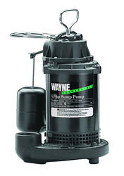 Wayne  1/3 hp 4,600 gph Plastic  Vertical Float Switch  AC  Sump Pump