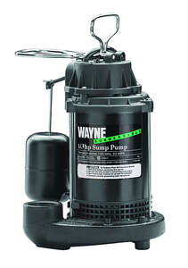 Wayne  1/3 hp 4600 gph Plastic  Submersible Sump Pump