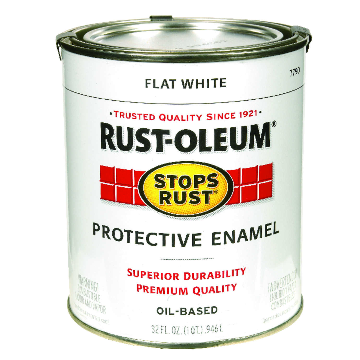 Rust-Oleum  Indoor and Outdoor  White  Protective Enamel  1 qt. Flat