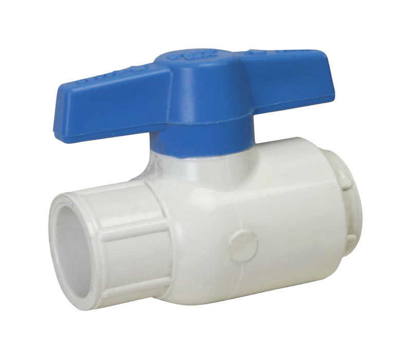 Spears  Ball  Utility Ball Valves  1/2 in. Slip   x 1/2 in. Dia. Slip  PVC