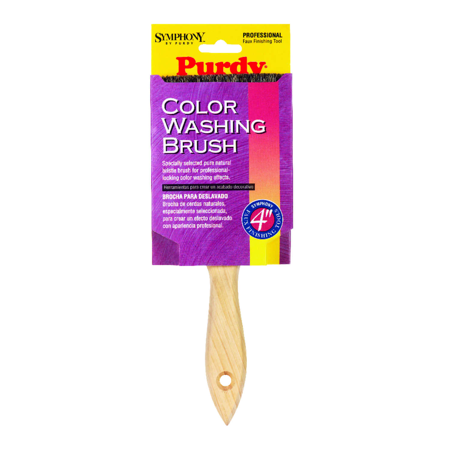 Purdy  4 in. W Flat  Natural Bristle  Symphony  Color Washing Brushes