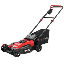 Craftsman V20 Max 20 in. 20 volt Battery Lawn Mower Kit (Battery & Charger)