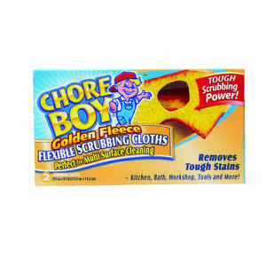 Chore Boy  Golden Fleece  Delicate, Light Duty  Scrubbing Cloths  5-1/4 in. L 2 pk