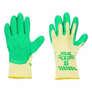 Atlas  Kid Tuff  Unisex  Indoor/Outdoor  Nitrile  Coated  Gardening Gloves  Green/Yellow  XS