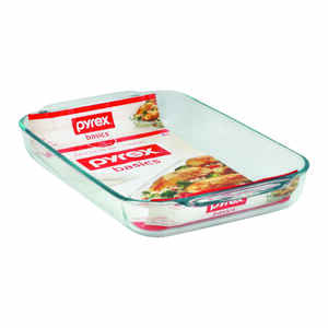 Pyrex  10 in. W x 15 in. L Baking Dish  Clear