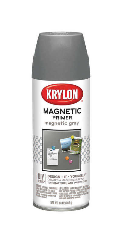 Krylon  Magnetic Primer  Spray Paint  13 oz. Magnetic Gray