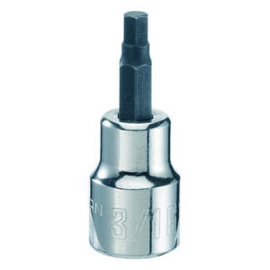 Craftsman  3/16 in.  x 3/8 in. drive  SAE  6 Point Standard  Hex Bit Socket  1 pc.