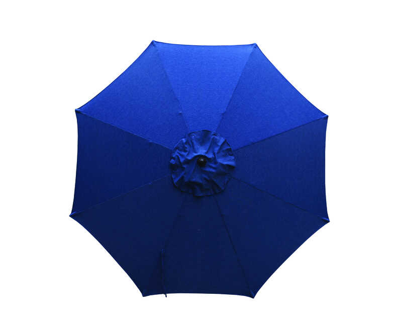 Living Accents  9 ft. Tiltable Navy  Market Umbrella