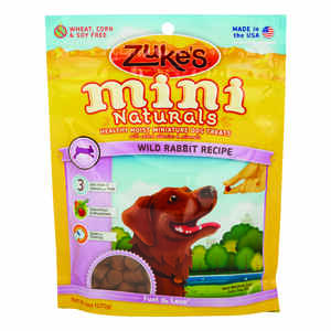 Zuke's  All Natural Mini  Wild Rabbit  Dog  Treats  1 pk