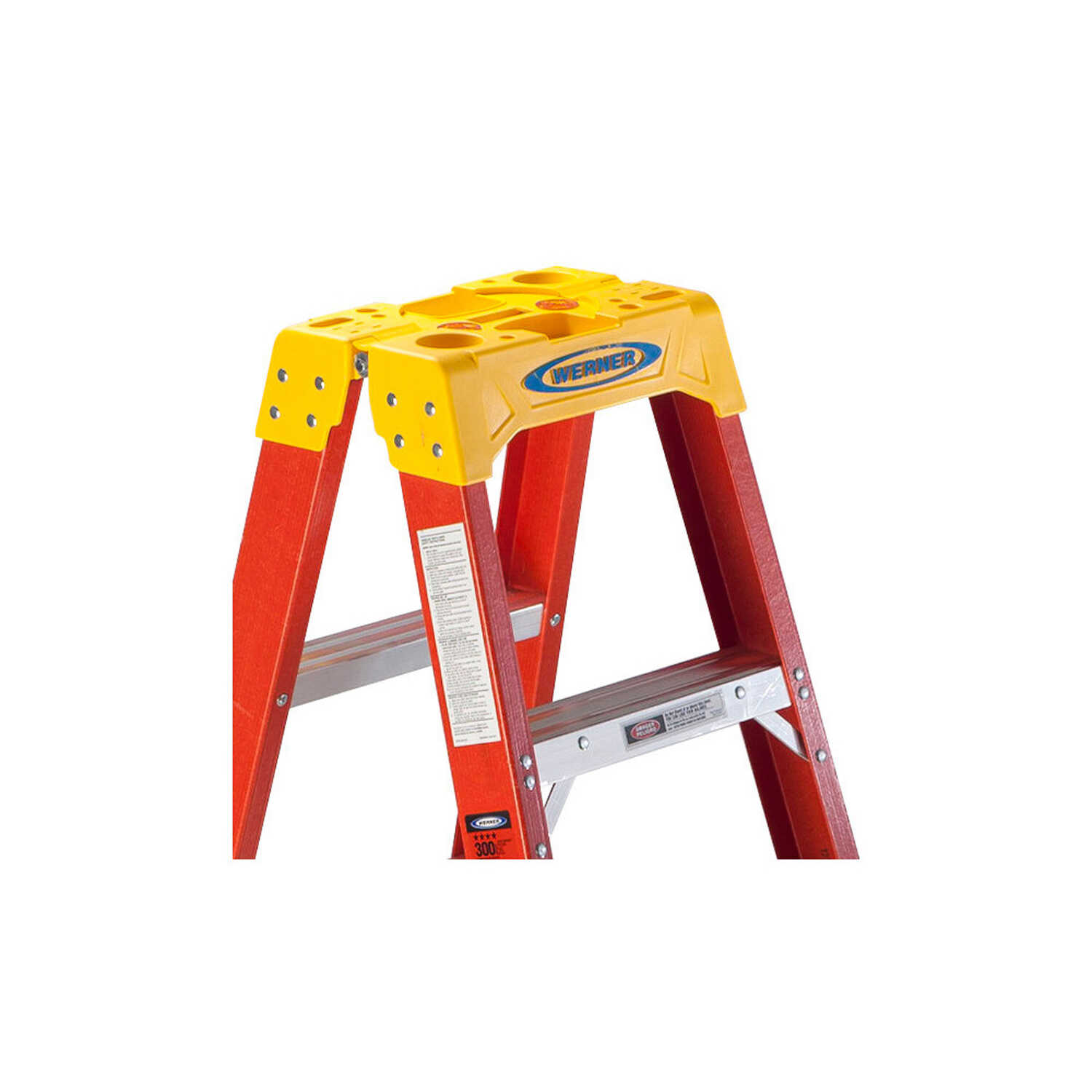 Werner  6 ft. H x 23.38 in. W Fiberglass  Step Ladder  Type IA  300 lb. capacity