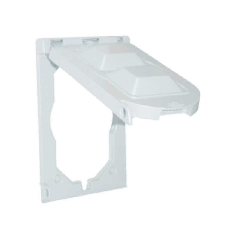 Sigma  Rectangle  Plastic  1 gang Box Cover  For For Use with One Gang Horizontal Outlets