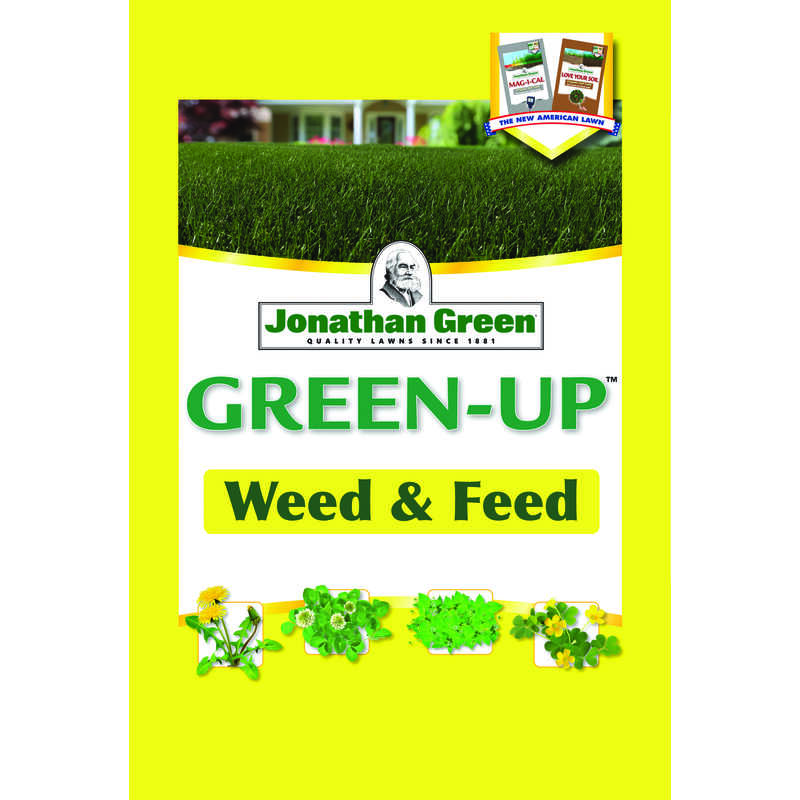 Jonathan Green  Green-Up  21-0-3  Weed and Feed  For All Grass Types 16 lb. 5000 sq. ft.