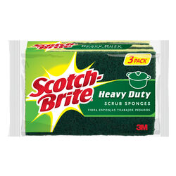 Scotch-Brite  Heavy Duty  Sponge  For Pots and Pans 4.5 in. L 3 pk