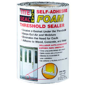 Tite Seal  4 in. H x 5-1/2 in. W x 3 ft. L Clear  Foam  Roll  Self-Adhesive Foam Threshold Sealer