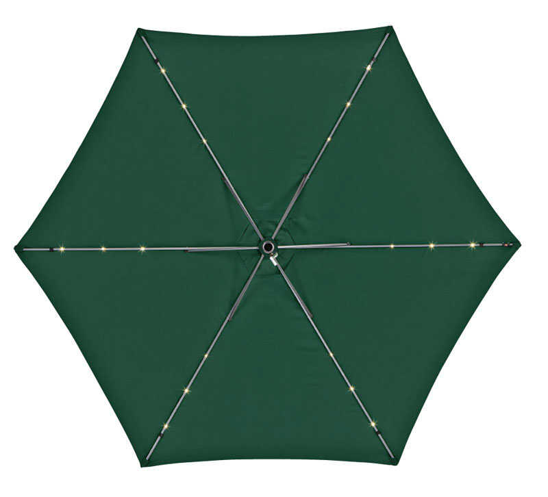 Living Accents  9 ft. Tiltable Hunter Green  MARKET  Patio Umbrella