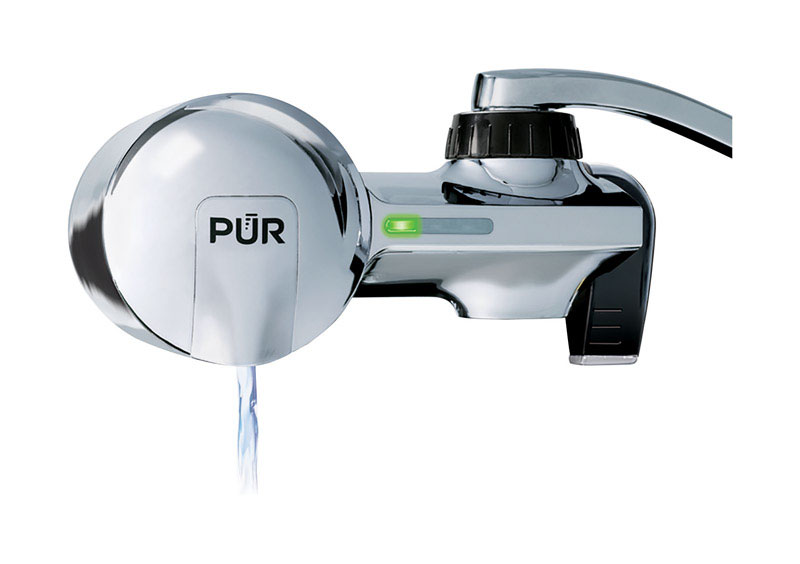 PUR  Maxion  Horizontal Faucet Mount Filter  For Faucets 100 gal.