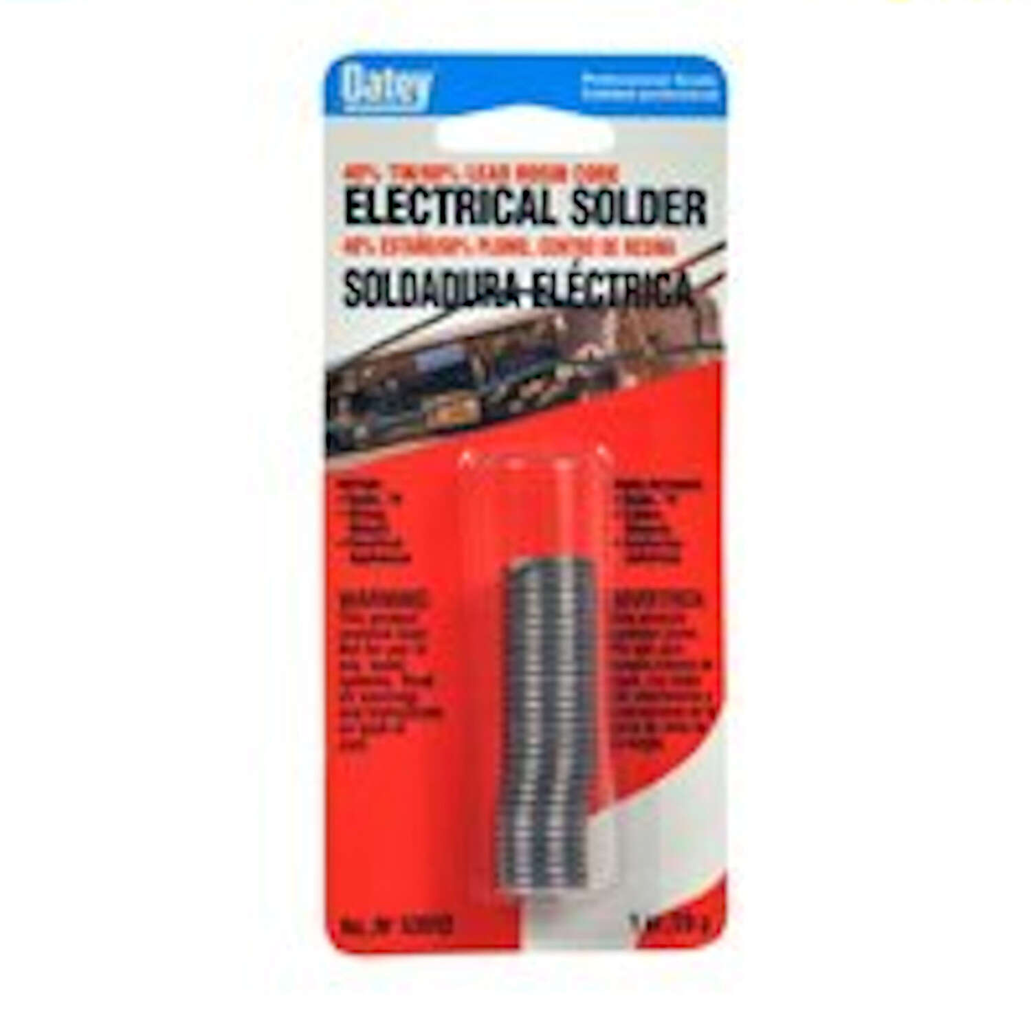 Oatey  1 oz. 1 oz.  x 0.063 in. Dia. Acid Core Wire Solder  Tin/Lead  40/60