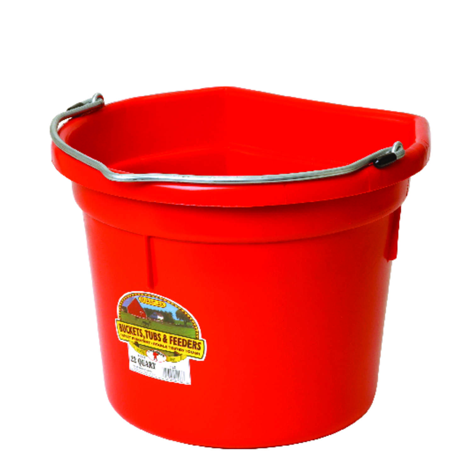 Little Giant  22 qt. Bucket  Red