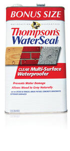 Thompson's Waterseal  Smooth  Clear  Solvent-Based  Multi-Surface Waterproofer  1.2 gal.