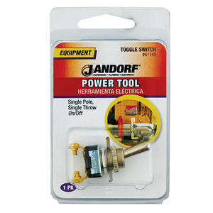 Jandorf  15 amps Single Pole  Toggle  Power Tool Switch  Silver  1 pk