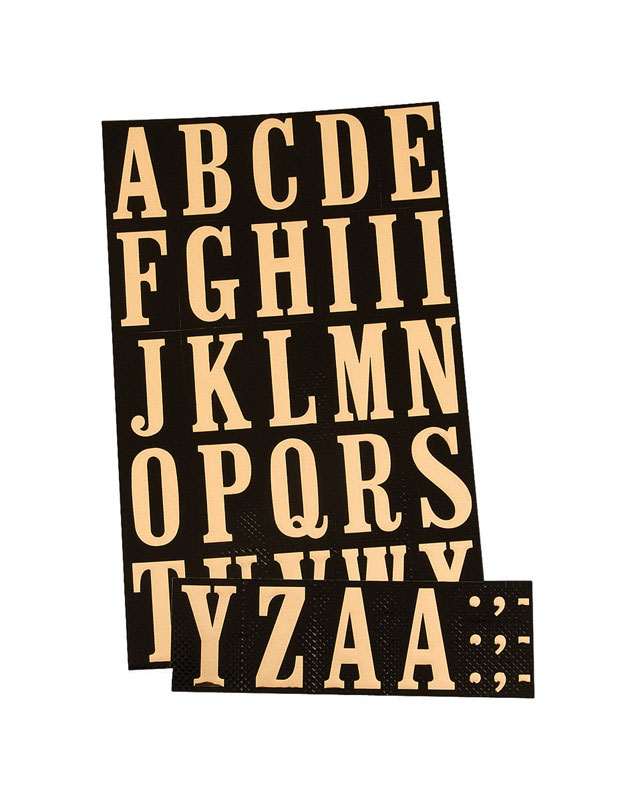 Hy-Ko  Polyester  A-Z  Letter Set  Self-Adhesive  Gold  2 in.