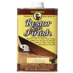 Howard  Restor-A-Finish  Semi-Transparent  Neutral  Oil-Based  Wood Restorer  1 pt.