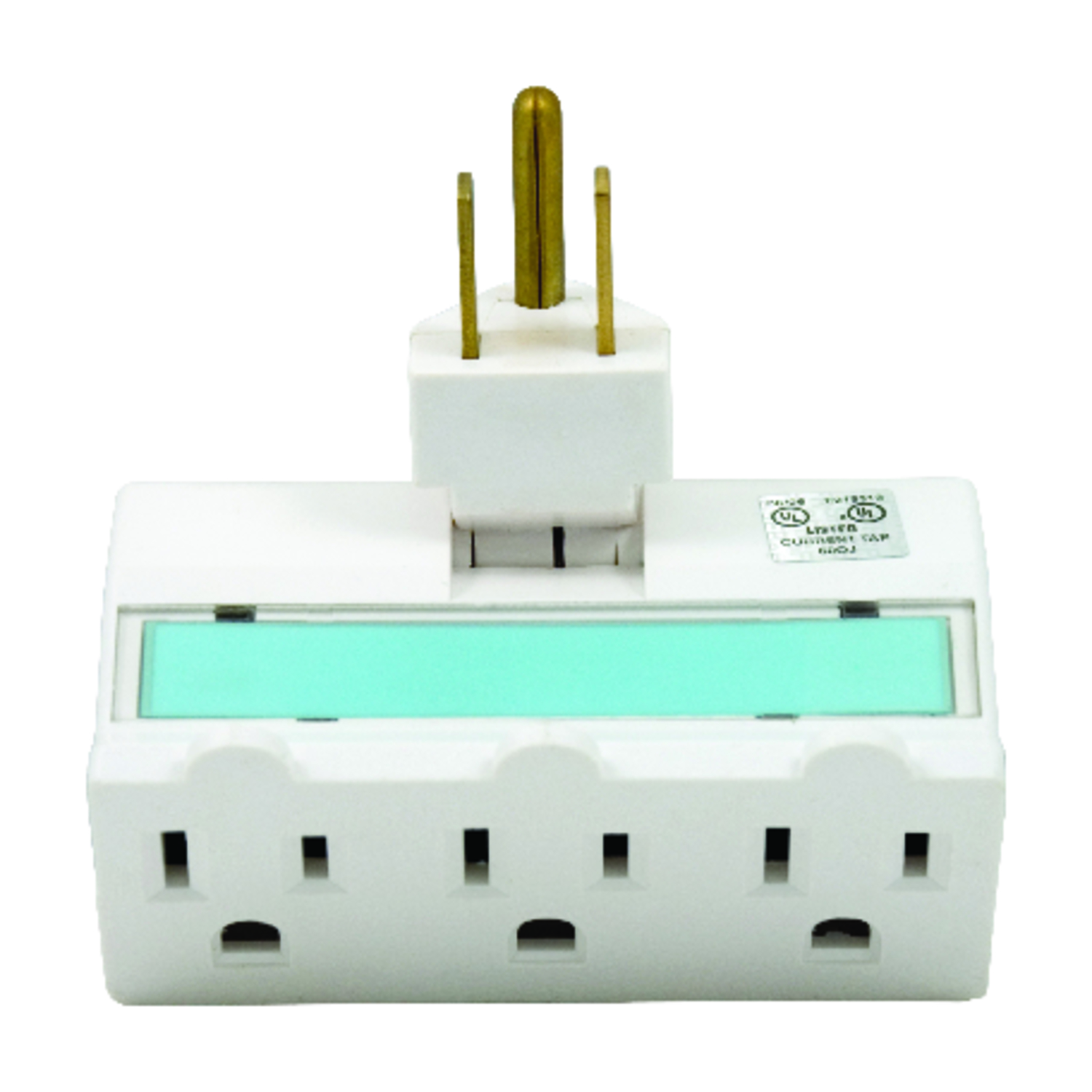 GE  Grounded  3 outlets Outlet Extender  1 pk Surge Protection