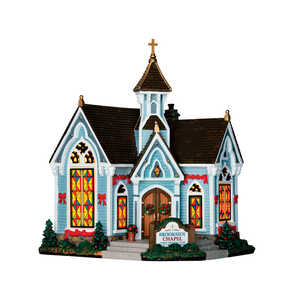 Lemax  Brookside Chapel  Village Building  Multicolored  Resin  1 each