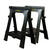 Stanley  32 in. H x 26-7/8 in. W x 2-1/8 in. D Folding Sawhorse  1000 lb. capacity Black  1 pair