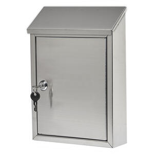 Gibraltar Mailboxes  Ashley  Wall-Mounted  Silver  Lockable Mailbox  11-11/16 in. H x 8-7/16 in. W x