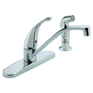 Peerless  Tunbridge  Choice  One Handle  Chrome  Kitchen Faucet  Side Sprayer Included