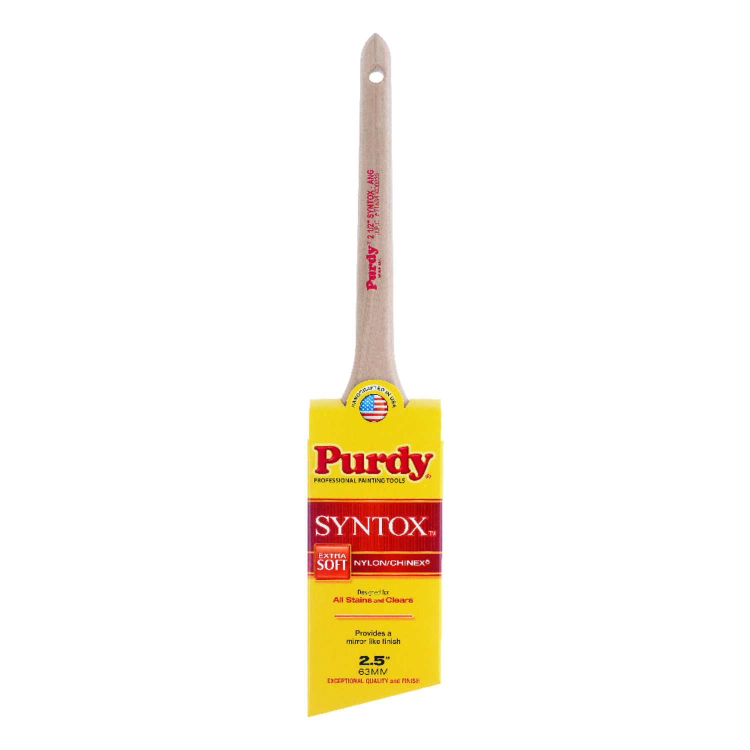 Purdy  2-1/2 in. W Angle  Trim Paint Brush  Chinex/Nylon  Syntox