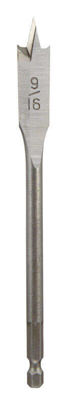 Ace  9/16 in. Dia. x 6 in. L Steel  Wood Boring Bit  Quick-Change Hex Shank  1 pc.
